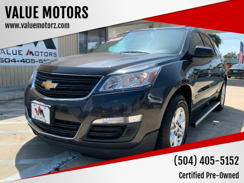 2016 Chevrolet Traverse for sale at VALUE MOTORS in Kenner LA