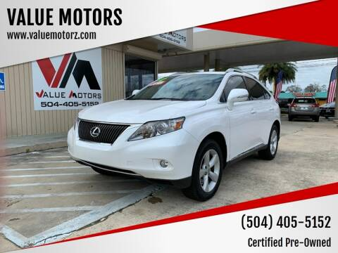 2012 Lexus RX 350 for sale at VALUE MOTORS in Kenner LA