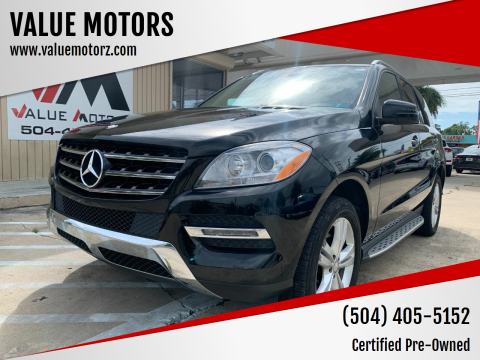 2014 Mercedes-Benz M-Class for sale at VALUE MOTORS in Kenner LA