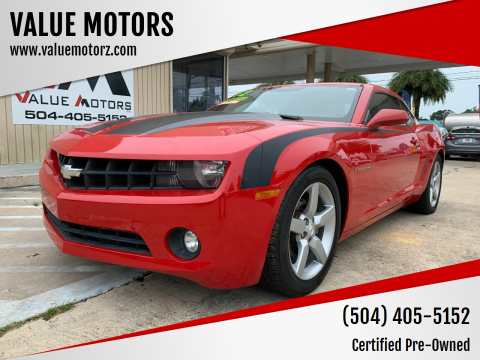 2012 Chevrolet Camaro for sale at VALUE MOTORS in Kenner LA