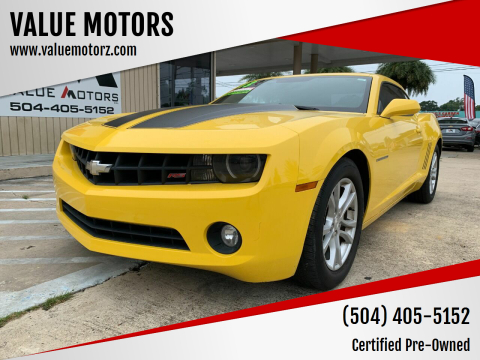2013 Chevrolet Camaro for sale at VALUE MOTORS in Kenner LA
