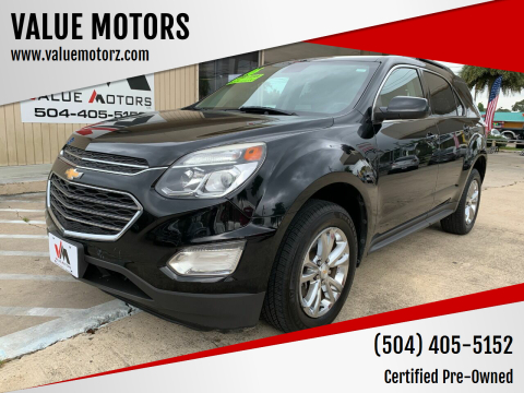 2016 Chevrolet Equinox for sale at VALUE MOTORS in Kenner LA