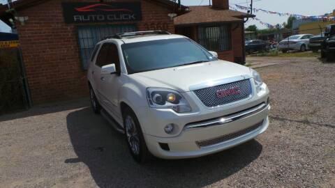 2012 GMC Acadia for sale at Auto Click in Tucson AZ
