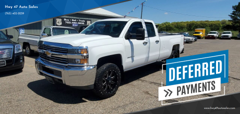 2015 Chevrolet Silverado 2500HD Work Truck for sale at Hwy 47 Auto Sales in Saint Francis MN