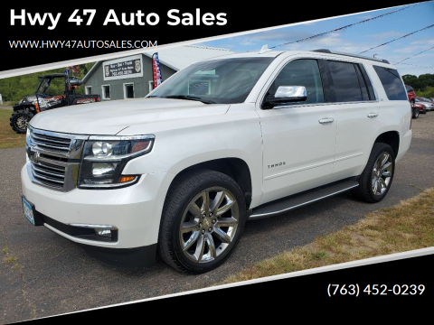2016 Chevrolet Tahoe for sale at Hwy 47 Auto Sales in Saint Francis MN