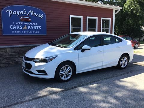2017 Chevrolet Cruze for sale in Williston, VT