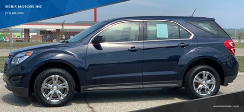 Equinox For Sale >> Chevrolet Equinox For Sale In Monroe Oh Sirius Motors Inc