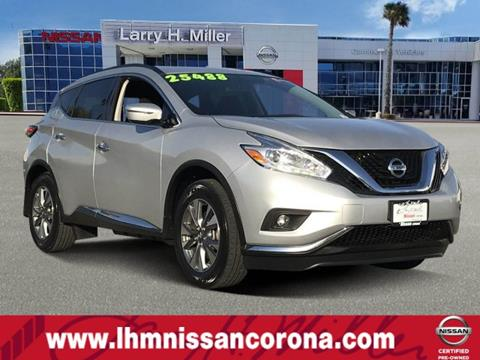 2016 Nissan Murano for sale in Corona, CA