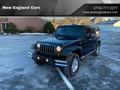 2010 Jeep Wrangler Unlimited for sale at New England Cars in Attleboro MA