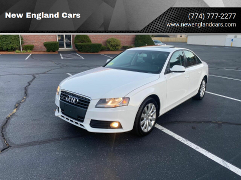 2012 Audi A4 for sale at New England Cars in Attleboro MA