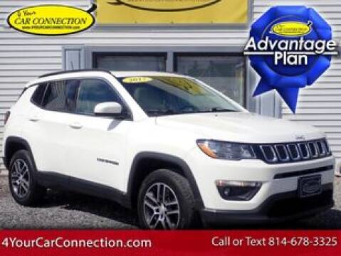 2017 Jeep Compass Latitude for sale at 4 YOUR CAR CONNECTION INC in Cranberry PA