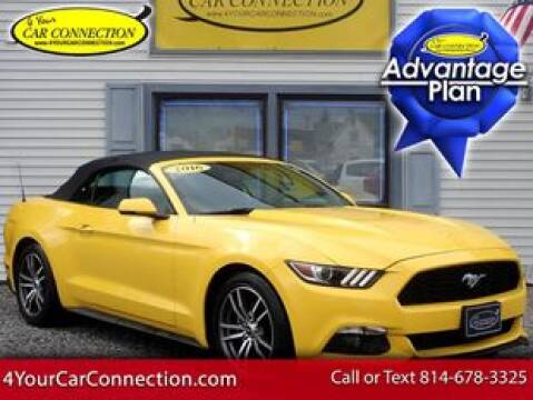 2016 Ford Mustang EcoBoost Premium for sale at 4 YOUR CAR CONNECTION INC in Cranberry PA