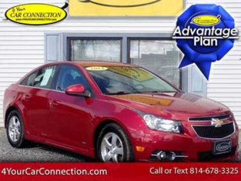 2012 Chevrolet Cruze LT for sale at 4 YOUR CAR CONNECTION INC in Cranberry PA