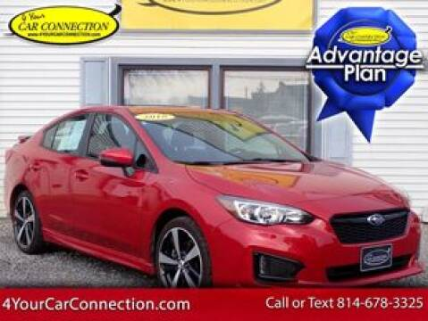2018 Subaru Impreza Sport for sale at 4 YOUR CAR CONNECTION INC in Cranberry PA