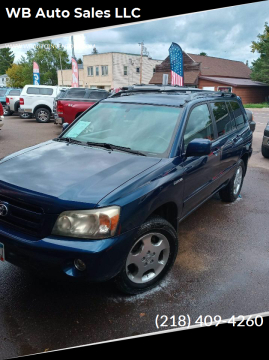 2004 Toyota Highlander for sale at WB Auto Sales LLC in Barnum MN