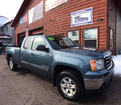 2012 GMC Sierra 1500 for sale at WB Auto Sales LLC in Barnum MN