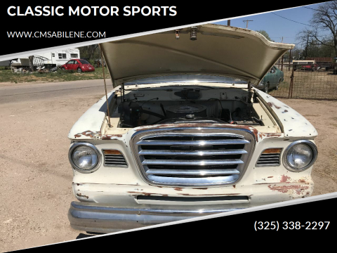 1964 Studebaker Champion for sale at CLASSIC MOTOR SPORTS in Winters TX