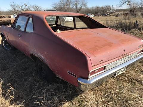 1970 Chevrolet Nova for sale at CLASSIC MOTOR SPORTS in Winters TX