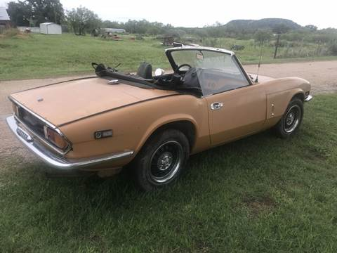 1972 Triumph Spitfire for sale at CLASSIC MOTOR SPORTS in Winters TX