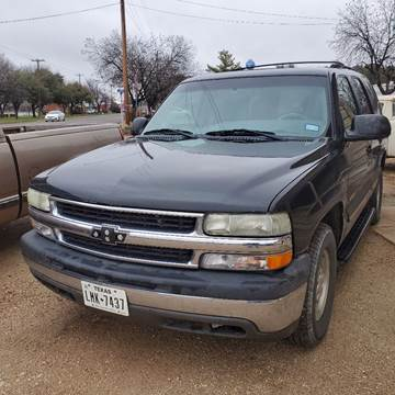 2003 Chevrolet Tahoe for sale at CLASSIC MOTOR SPORTS in Winters TX