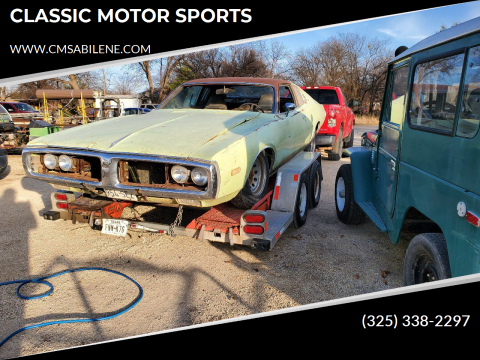 1973 Dodge Charger for sale at CLASSIC MOTOR SPORTS in Winters TX