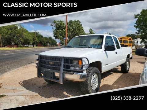1997 Chevrolet C/K 1500 Series for sale at CLASSIC MOTOR SPORTS in Winters TX