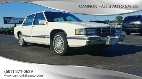 1991 Cadillac DeVille for sale at Cannon Falls Auto Sales in Cannon Falls MN