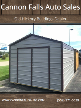 2020 Old Hickory Buildings Meta Shed 10x12 for sale at Cannon Falls Auto Sales in Cannon Falls MN