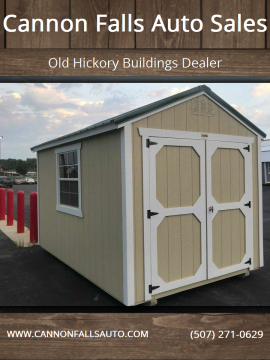 2020 Old Hickory Buildings Utility Shed 8x12 for sale at Cannon Falls Auto Sales in Cannon Falls MN