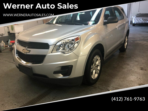2012 Chevrolet Equinox LS for sale at Werner Auto Sales in Pittsburgh PA