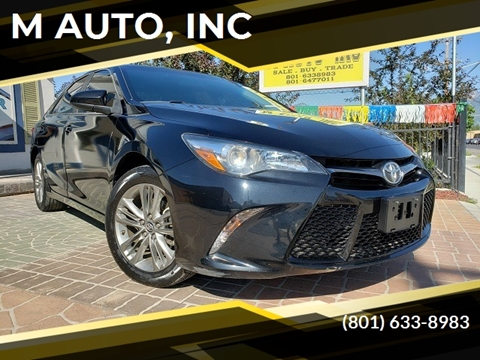 2016 Toyota Camry for sale at M AUTO, INC in Millcreek UT
