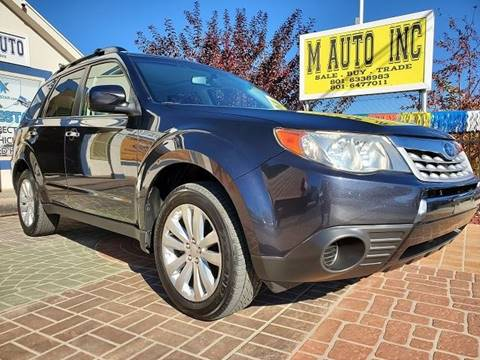 2012 Subaru Forester for sale at M AUTO, INC in Millcreek UT