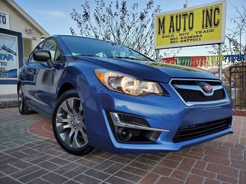2015 Subaru Impreza for sale at M AUTO, INC in Millcreek UT