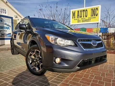 2014 Subaru XV Crosstrek for sale at M AUTO, INC in Millcreek UT