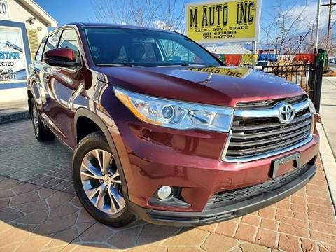 2014 Toyota Highlander for sale at M AUTO, INC in Millcreek UT