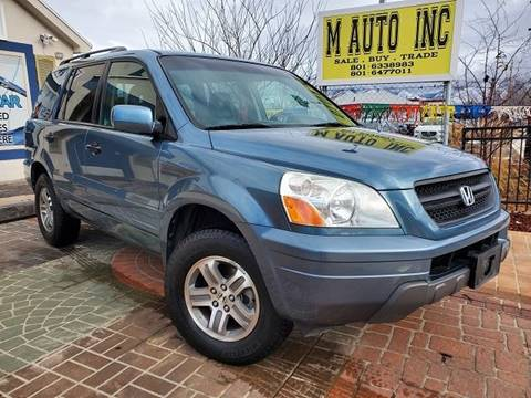 2005 Honda Pilot for sale at M AUTO, INC in Millcreek UT