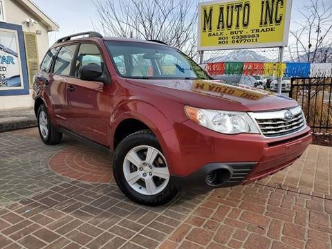 2010 Subaru Forester for sale at M AUTO, INC in Millcreek UT