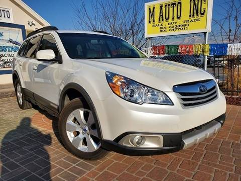 2012 Subaru Outback for sale at M AUTO, INC in Millcreek UT