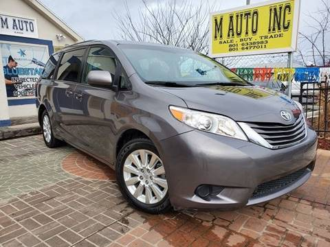 2015 Toyota Sienna for sale at M AUTO, INC in Millcreek UT