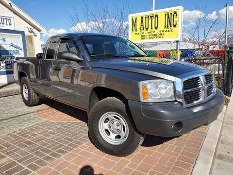2007 Dodge Dakota for sale at M AUTO, INC in Millcreek UT