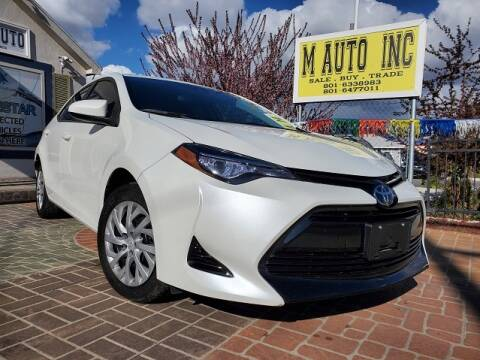 2017 Toyota Corolla for sale at M AUTO, INC in Millcreek UT