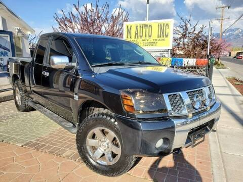 2004 Nissan Titan for sale at M AUTO, INC in Millcreek UT