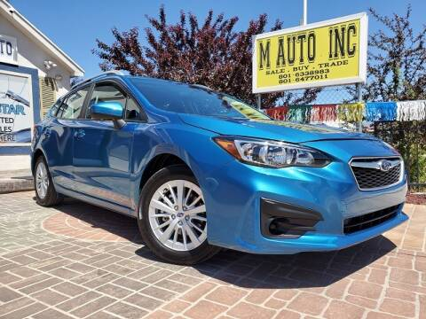 2018 Subaru Impreza for sale at M AUTO, INC in Millcreek UT
