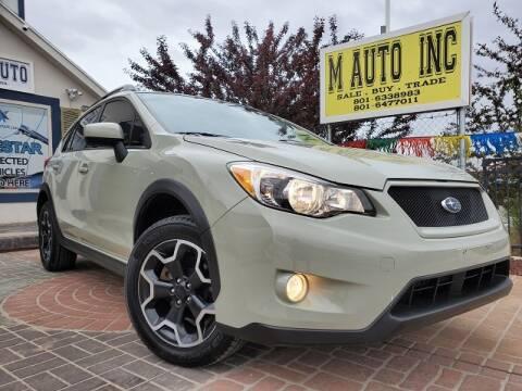 2015 Subaru XV Crosstrek for sale at M AUTO, INC in Millcreek UT