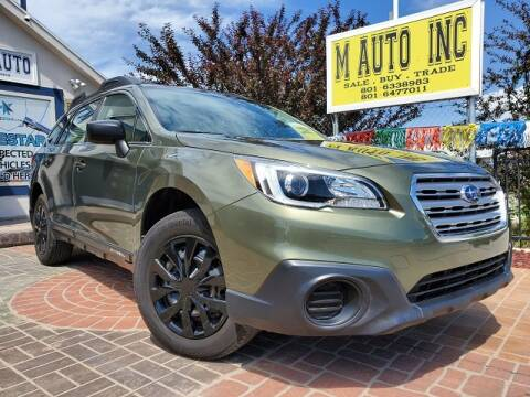 2016 Subaru Outback for sale at M AUTO, INC in Millcreek UT
