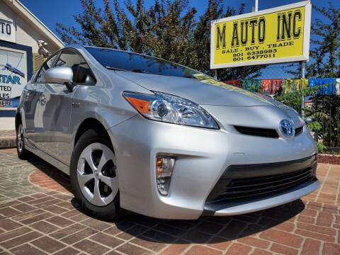 2015 Toyota Prius for sale at M AUTO, INC in Millcreek UT
