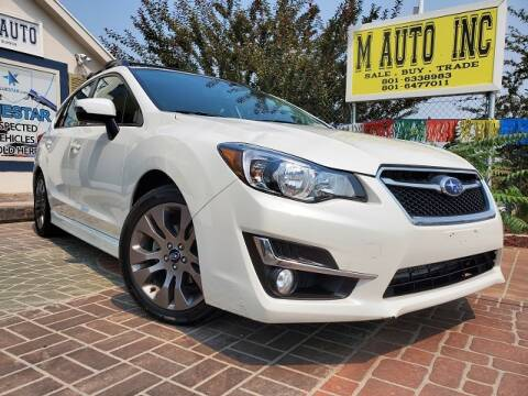 2016 Subaru Impreza for sale at M AUTO, INC in Millcreek UT