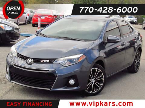 2014 Toyota Corolla for sale at VIP Kars in Marietta GA
