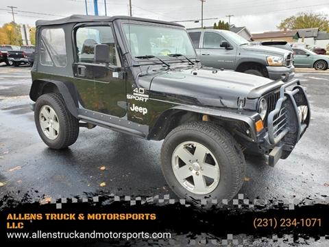 2000 Jeep Wrangler for sale in Buckley, MI