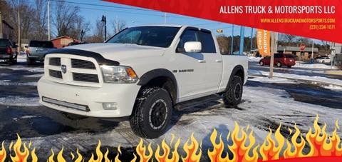 2011 RAM Ram Pickup 1500 Sport for sale at ALLENS TRUCK & MOTORSPORTS LLC in Buckley MI